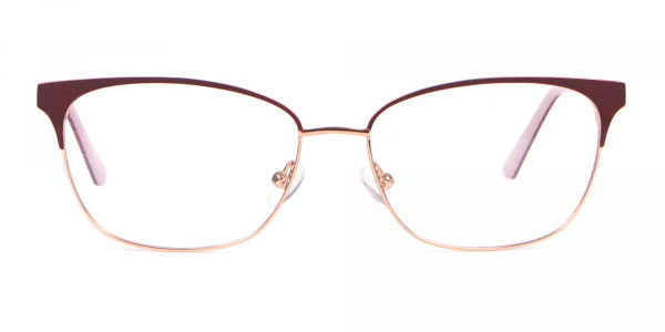 Calvin Klein CK18108 Women Rectangular Metal Glasses Red