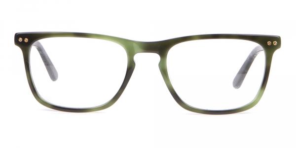 Calvin Klein CK18513 Rectangular Glasses in Green Tortoise