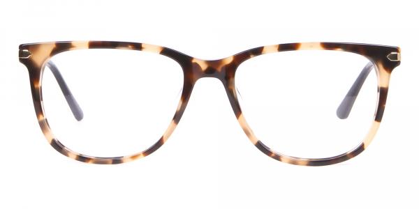 Calvin Klein CK19704 Wayfarer Glasses In Khaki Tortoise