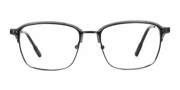 Gunmetal and Translucent Grey clubmaster glasses