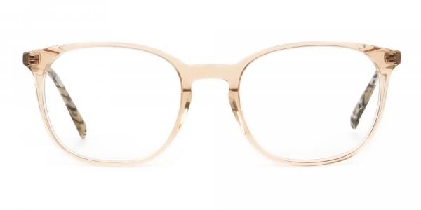 Crystal Brown Glasses with & Grey Amber Marble Temple