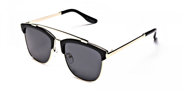 Grace's DESIGNER gold & black sunglasses