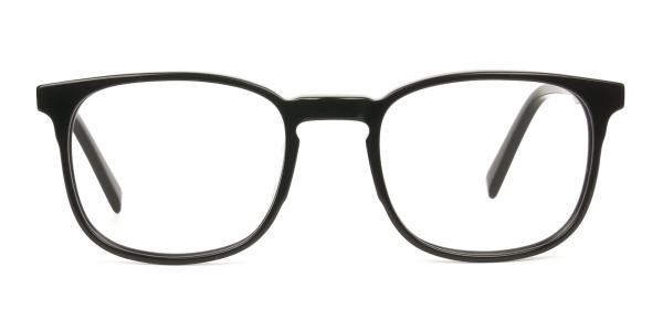 Sport Style Thick Big Black Square Glasses