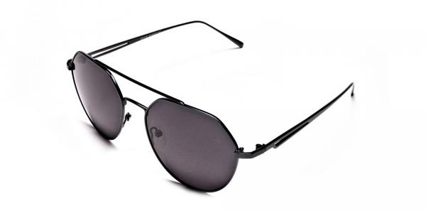 Classic Gunmetal Grey Tinted Sunglasses