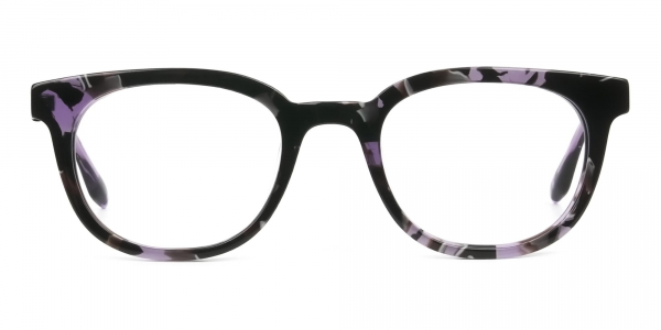 Hipster Thick Frame Tortoise Pastel Purple Glasses For Women