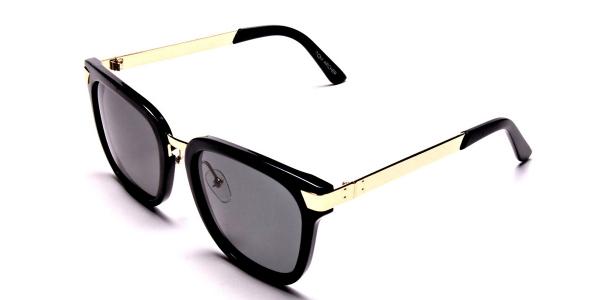 Gold Sides & Black Front Sunglasses
