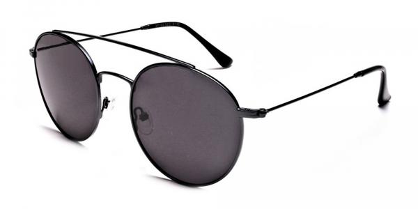 Grey Round Sunglasses