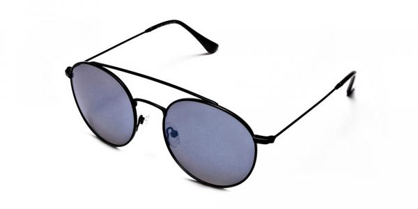 Blue Round Sunglasses Online - 2