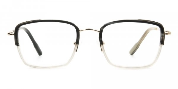 Spider Man Tony Stark Glasses Marble Grey & Nude Translucent