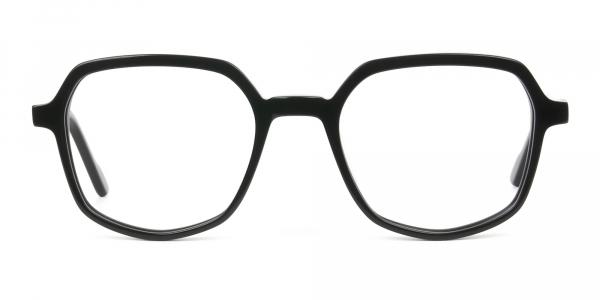 Geometric Frame Glasses in Black
