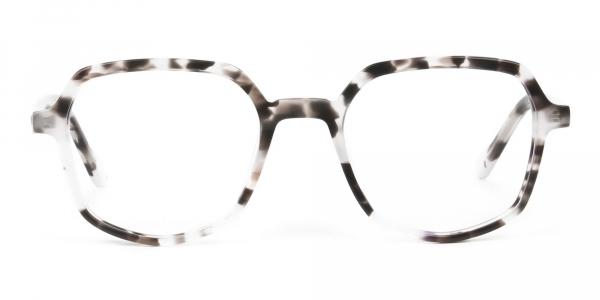 Spotty Black Heptagon Glasses