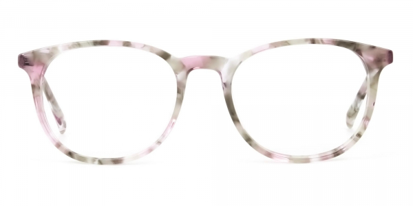 Round Marble Red Frames Glasses