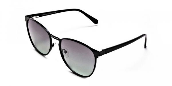 Black Green Tint Sunglasses