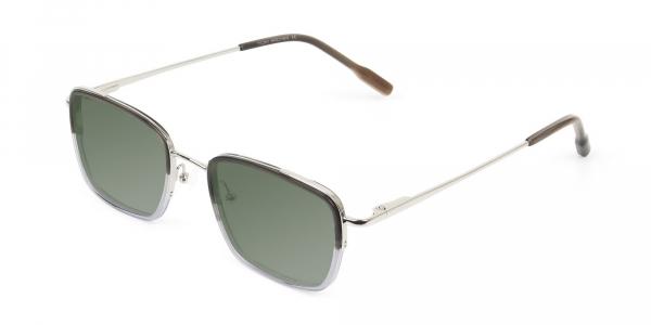 Green Tinted Charcoal Wayfarer Sunglasses