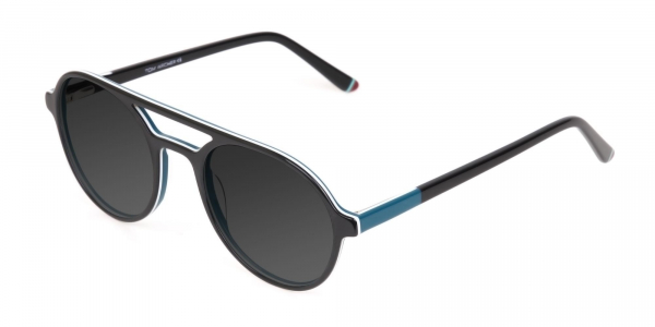 Black and Turquoise Sunglasses
