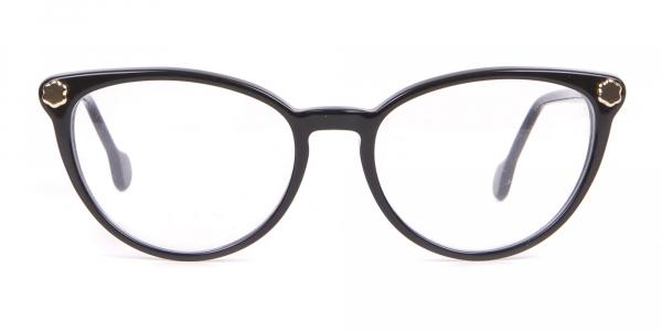 Salvatore Ferragamo SF2837 Women's Cateye Glasses Black