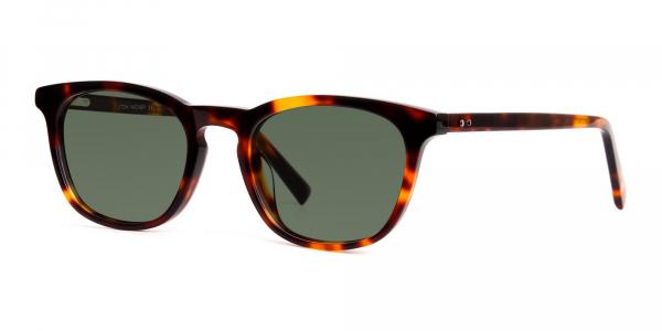 tortoiseshell wayfarer full rim dark green tinted sunglasses frames