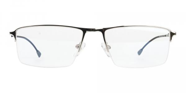Silver Semi Rim Rectangle Glasses