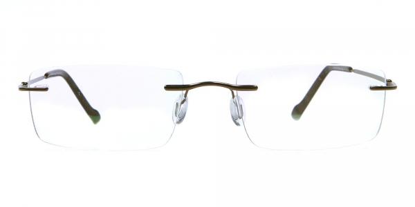 Rimless Glasses in Brown for Men & Women