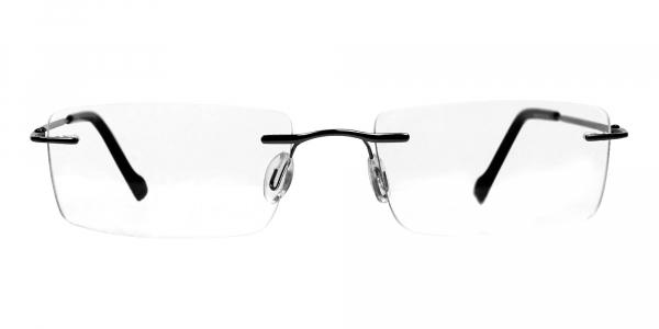 Rimless Glasses in Gunmet