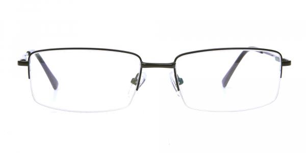 Rectangular glasses in Black