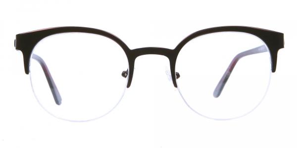 Browline Eyeglasses in Burgundy, Eyeglasses