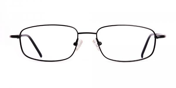 black metal full rim rectangular full rim glasses frames