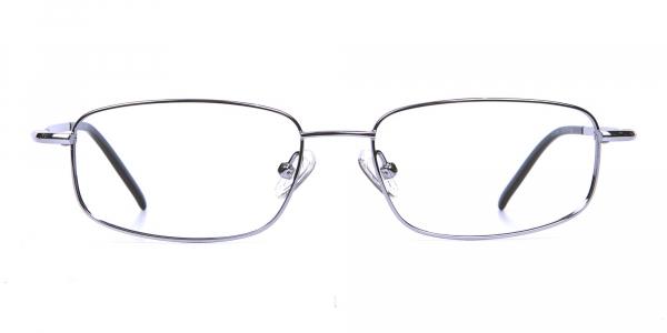 Rectangular Eyeglasses in Gunmetal, Eyeglasses