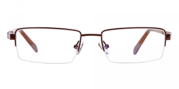 Brown Rectangular Glasses, Eyeglass