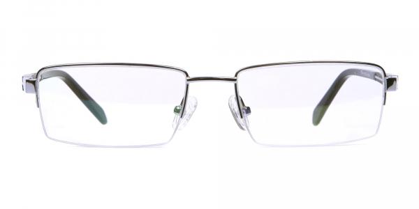 Silver Rectangular Glasses, Eyeglass