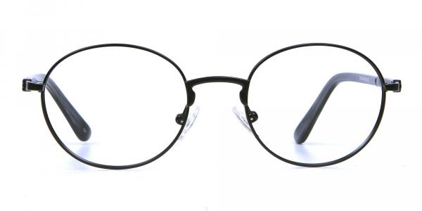 Round Glasses in Black, Eyeglasses