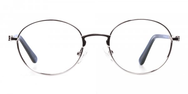 Round Silver Metal Glasses