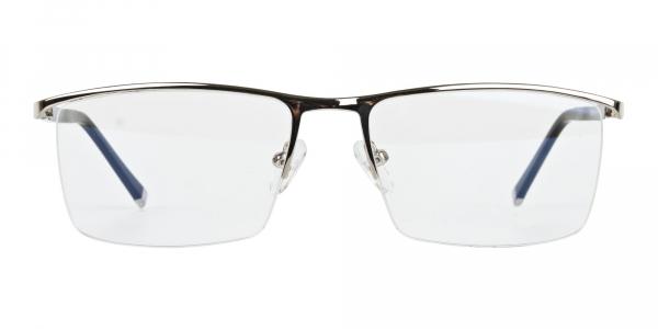 Silver and Black Semi Rim Glasses
