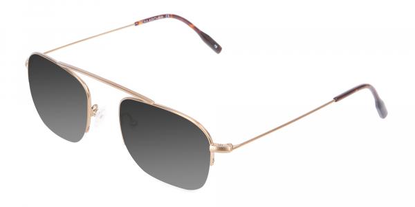 Gold Metal Sunglasses - 3