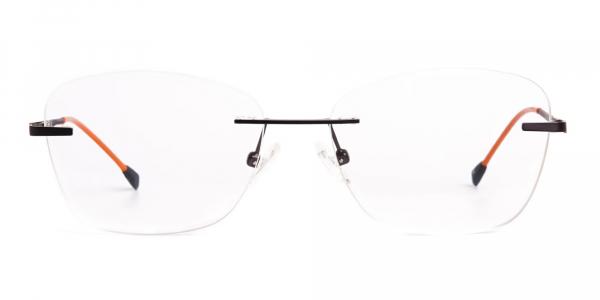 brown cateye rimless wayfarer glasses frames