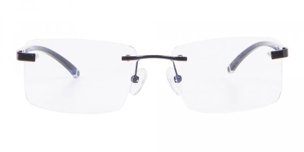 Frameless Glasses Black & Silver, Glasses UK