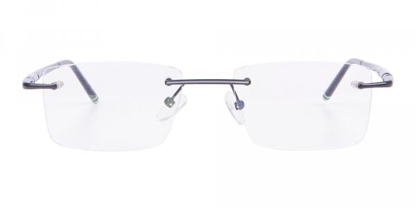 Latest Black Rimless Rectangular Glasses UK