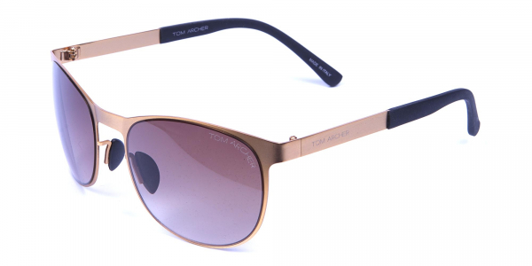 Gold Circular Sunglasses
