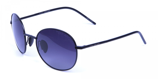 Black & Grey Sunglasses Round Frame