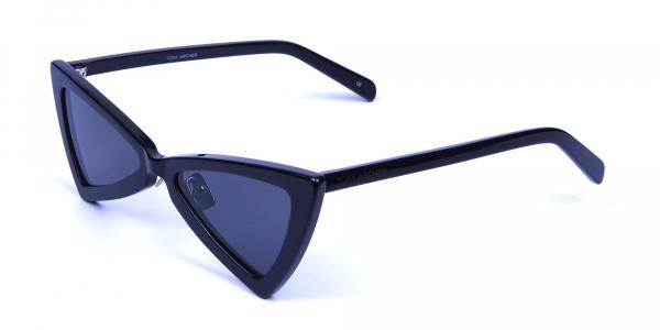 Black Triangle Cat Eye Sunglasses
