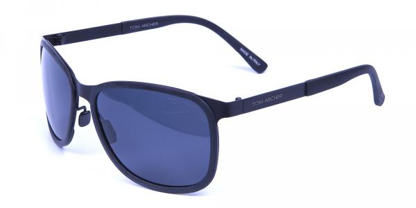 Subtle Black Square Sunglasses