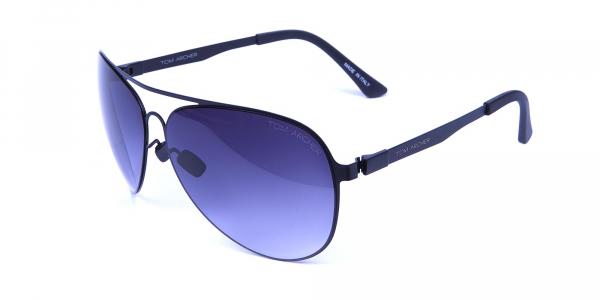 Bold Black & Grey Sunglasses -2