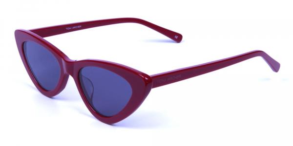 Small Frame Red Cat-Eye Sunglasses  -2