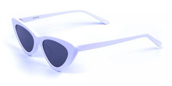 white round cat eye sunglasses