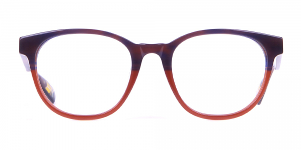 TED BAKER TB8197 Cade Glasses Classic Round Blue Brown