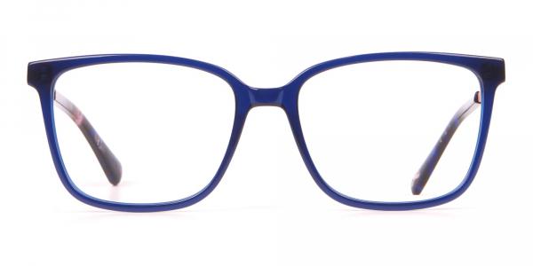 Tad Baker TB9179 Women Blue Full Rim Wayfarer Glasses