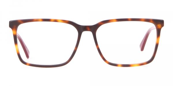 TED BAKER TB8209 ROWE Rectangular Glasses Red & Tortoise