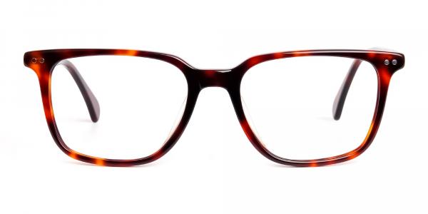 tortoise shell rectangular wayfarer full rim glasses frames