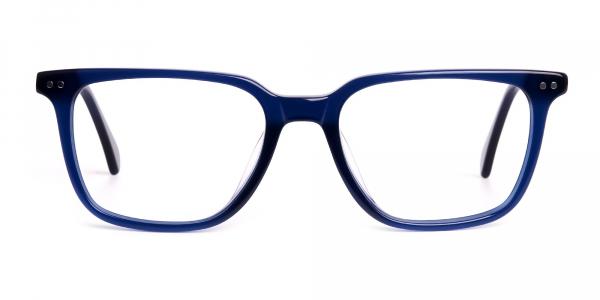 navy blue rectangular wayfarer full rim glasses frames
