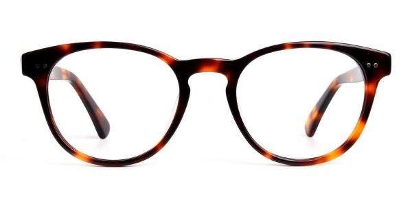 havana tortoise full rim round glasses frames
